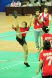 J.P. Wu in actie Stock Fotografie