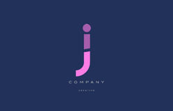 J pink blue alphabet letter logo icon Royalty Free Stock Photography