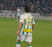 J.Quero from Córdoba C.F. match king's Cup Stock Photography