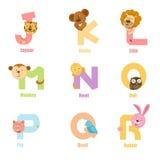 J-R d'animal d'alphabet Images stock