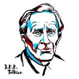 J.R.R. Tolkien Portrait royalty free illustration