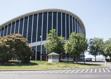 J.S. Dorton Arena in Raleigh, North Carolina. J.S. Dorton Arena on the North Carolina State Fairgrounds in Raleigh stock image