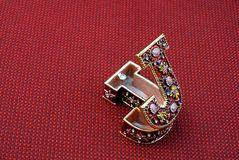 J-shaped jewel box Royalty Free Stock Photo