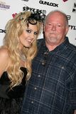 J.Smith and her father at the J.Smith Music Video Debut Premiere Party. Les Deux, Hollywood, CA. 02-25-09 Royalty Free Stock Images