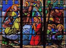 J?sus et ses disciples sur le mont des Oliviers photo libre de droits
