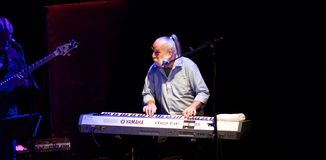 J.T. Thomas on keys with Albert Lee at the Midland Cultural Centre - June 10, 2018 Royalty Free Stock Photos