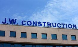 J.W. Construction sign Royalty Free Stock Image
