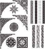 język arabski osacza dividers ornament Zdjęcie Stock