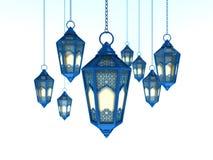 Języka arabskiego Ramadan lampion Fotografia Stock