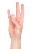 języka liczby siedem znak Fotografia Stock