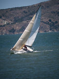 J30 Sailboat heeling Stock Photography