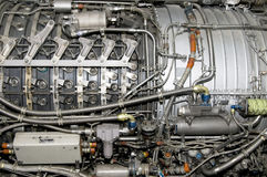 J79 Jet Engine. Side view of General Electric's J79 jet engine Stock Photos