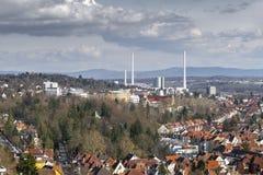 jałowa spopielanie roślina Stuttgart Niemcy fotografia stock