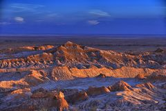 Jałowy krajobraz księżyc dolina w Atacama pustyni, Chile Fotografia Royalty Free