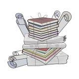 Jałowy papier Papierowy odpady i śmieciarski stosowny dla przetwarzać royalty ilustracja