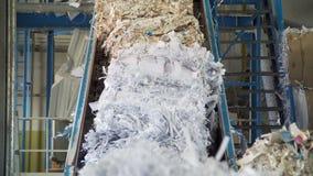 Jałowy papier przetwarza młyn zbiory wideo