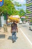 Jałowy papierowy przewoźnik w Kolombo Obraz Royalty Free