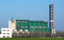 Jałowy piec do spalania fabryki przemysł energetyczny Obrazy Royalty Free