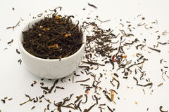 Jaśminowi zielona herbata liście Zdjęcie Stock