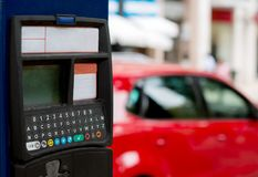 Jaźń parking usługowa samochodowa maszyna Zdjęcie Royalty Free