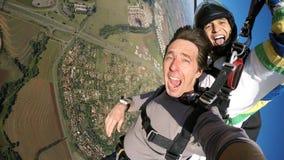 Jaźń portreta tandemu paragliding Obraz Royalty Free