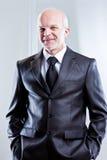 Jaźń ufny uśmiechnięty biznesowy mężczyzna Obrazy Royalty Free