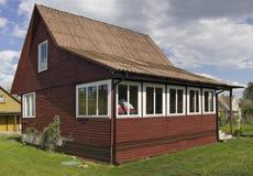 Jaźń zrobił drewnianemu domowi Obrazy Stock