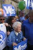 Ja Anhänger Scottish Indy-Hinweis 2014 Lizenzfreie Stockfotos