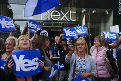 Ja Anhänger Scottish Indy-Hinweis 2014 Stockbilder