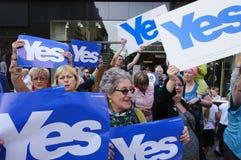 Ja Anhänger Scottish Indy-Hinweis 2014 Lizenzfreies Stockbild