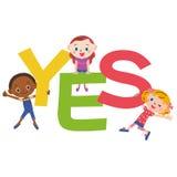 JA brief en kinderen stock illustratie