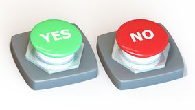 Ja eller ingen strömbrytare Fotografering för Bildbyråer