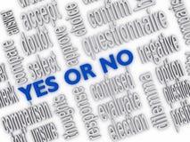 Ja eller inte Royaltyfri Fotografi