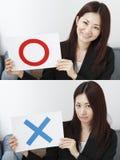 Ja eller nr. Fotografering för Bildbyråer