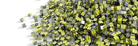 Ja en geen kubussen Stock Afbeelding