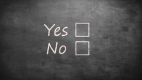Ja en geen opties stock illustratie
