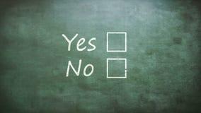 Ja en geen opties royalty-vrije illustratie