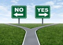 Ja of geen besluit royalty-vrije illustratie