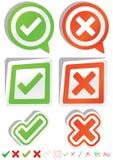 Ja Geen Stickers_eps Stock Foto's