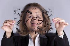 Ja Geschäftsfrau Stockbild