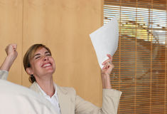 Ja Geschäftsfrau Lizenzfreie Stockfotografie