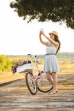 Ja i mój rower na selfie Obrazy Stock