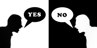 Ja & inte Arkivfoton
