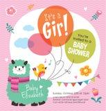 Ja jest dziewczyną! Dziecko prysznic Obrazy Stock