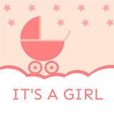 Ja jest dziewczyny dziecka prysznic zaproszeniem zdjęcia royalty free