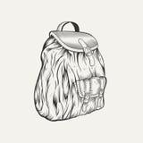 Ja jest ilustracją plecak Obrazy Stock