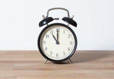 Ja jest jedenaście o ` zegarem fotografia royalty free