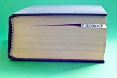 Ja jest książkowy z słowo formatem Zdjęcia Royalty Free