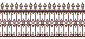 Ja jest s szczegół lana żelazna brama w Wien Austria, Europa - zdjęcie stock