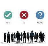 Ja kein Antwort-Fragebogen-Konzept lizenzfreies stockfoto